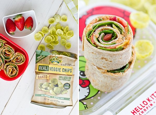 Slow-Roasted Tomato and Basil Hummus Wraps!