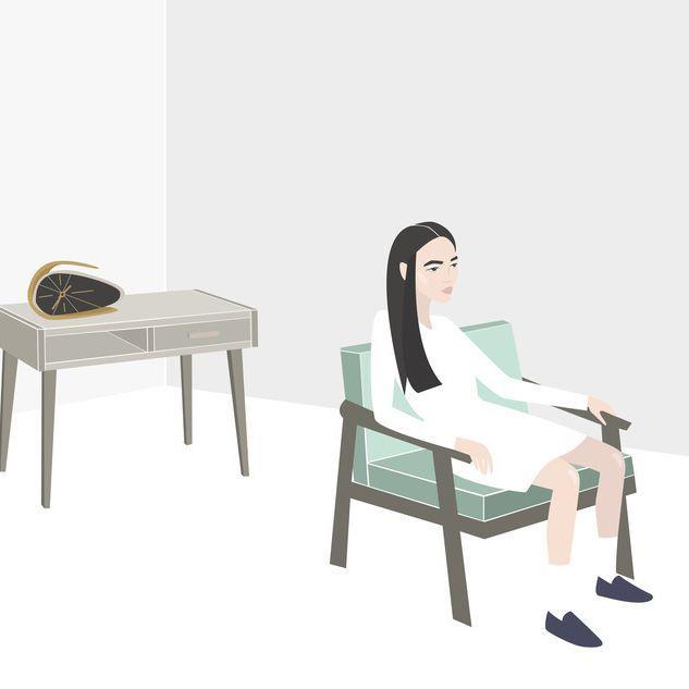 #vector #nadia_illustrations #illustration #minimalism #room #asian #interior #clock #bitchface