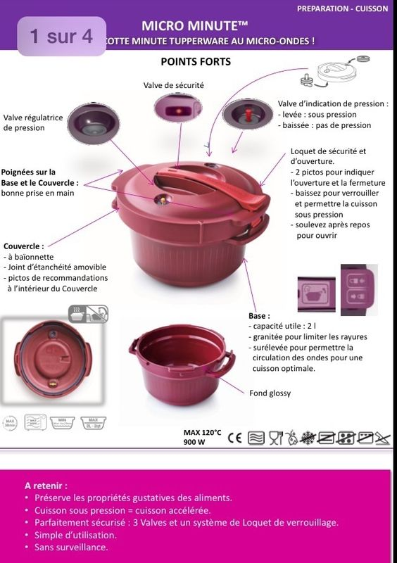 Fiche produit Tupperware: Micro minute 2 http://jessicasullivan2014.my.tupperware.com/