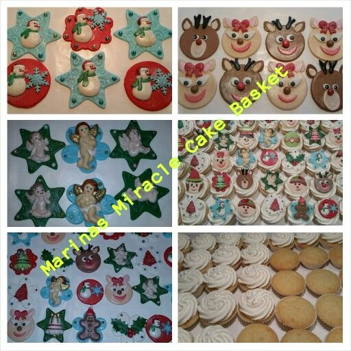 Xmas cupcakes and toppers by Marina Kirk-Osman