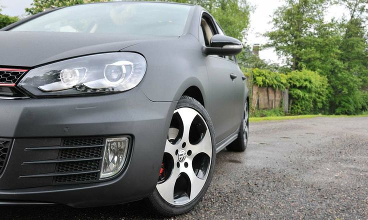 VW Golf 6 GTI carwrapping mat zwart. http://www.procartuning.nl