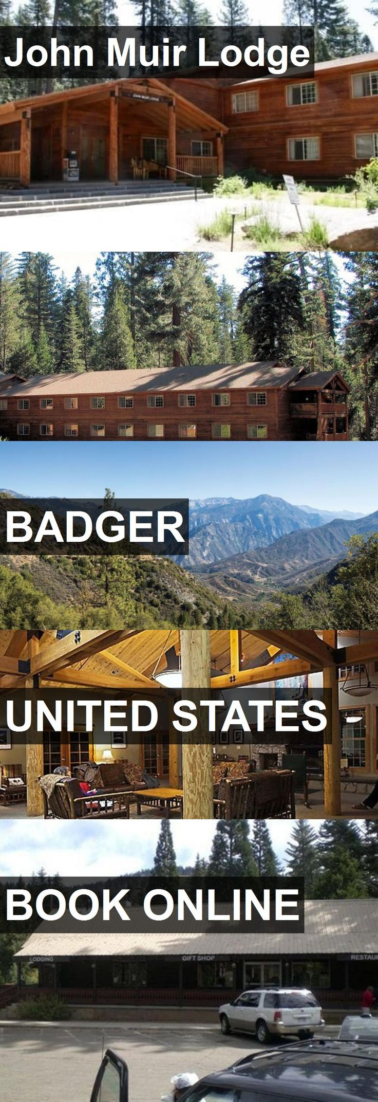 Hotel John Muir Lodge in Badger, United States. For more information, photos, reviews and best prices please follow the link. #UnitedStates #Badger #hotel #travel #vacation