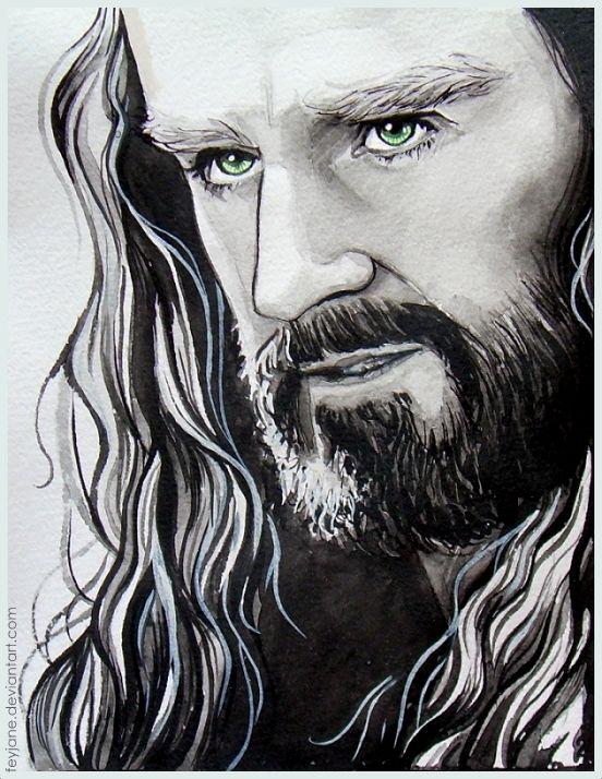 Love the eyes ~ Thorin Oakenshield by ~Feyjane on deviantART