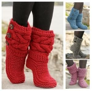 How To Knit Women Boots by Mary Smith fSesz