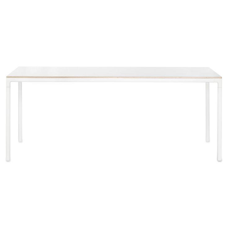 T12 bord 160x80, hvit laminat i gruppen Møbler / Bord / Spisebord hos ROOM21.no (128152)
