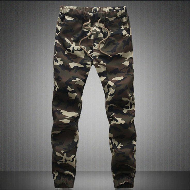 Aliexpress.com: Comprar 2016 M 5XL Hombres Pantalones Casuales Camuflaje Hip Hop Fresco Nuevo Ejército Pantalones Ropa Exterior Ropa Militar Mens Joggers Sweatpants Moda de pantalones de la chaqueta fiable proveedores en Fashion Men Design