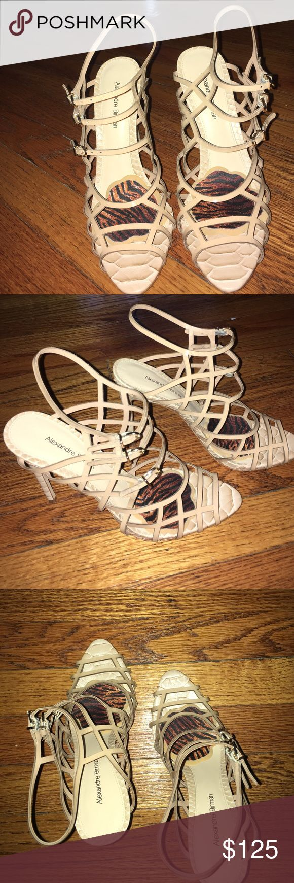 FLASH SALE! Alexandre Birman nude caged heels! 💋 Beautiful and gently loved, Alexandre Birman nude caged heels! 😍 Three straps to secure your effortless and fierce strut. Because let's face it, these just say beautiful attitude! OFFERS WELCOMED! Let's make a deal! NO RETURNS, and please ask questions before purchase! Alexandre Birman  Shoes Heels