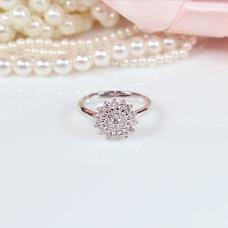 It's an engagement ring, but I could wear it on another finger! Oh, pretty...