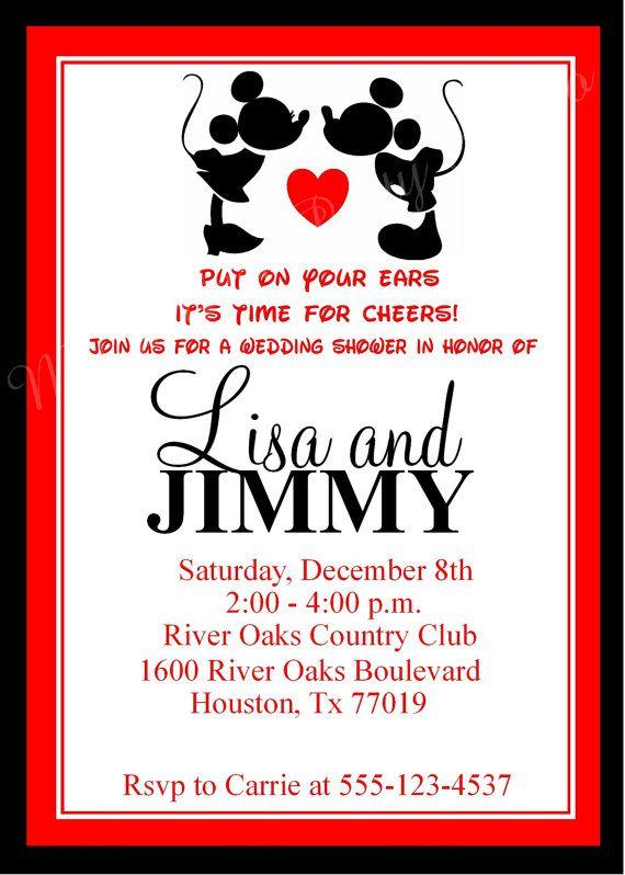 mickey mouse custom invitations