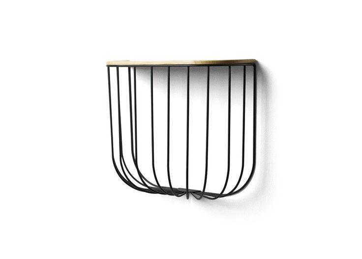 Menu Cage Shelf - Black/Dark Ash