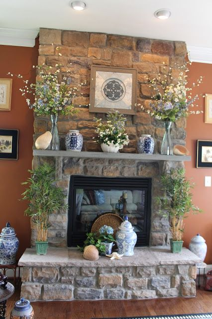Designs by Pinky: Summerizing the Mantle and Hearth