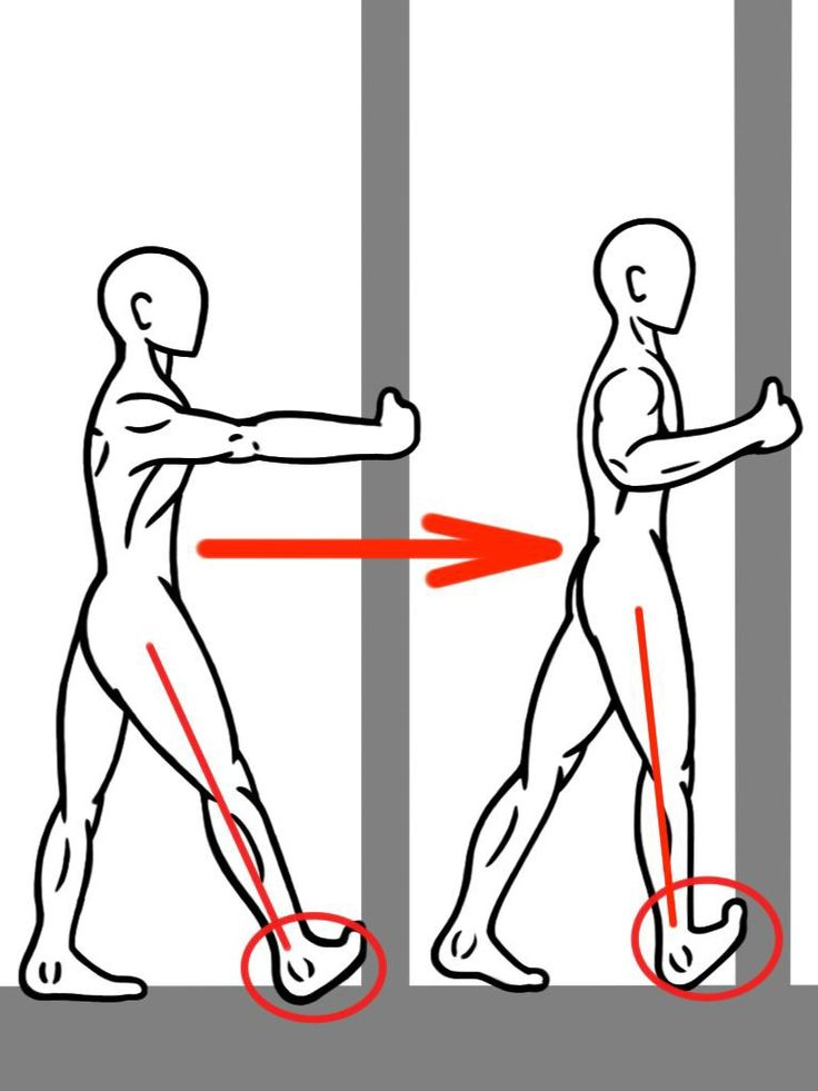 PreHab Exercises - PNF Calf Stretch against the wall for ...