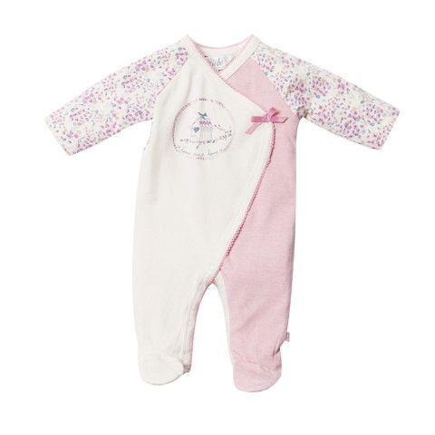 Bebe Nina XW14-751 Nina Multi Nina Wrap Romper w Feet – Sweet Thing Baby & Childrens Wear #Winter #Cloth #Girl sweetthing.com.au