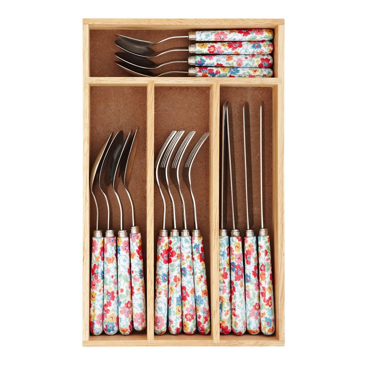 View all | Mews Ditsy 16 Piece Cutlery Set | CathKidston