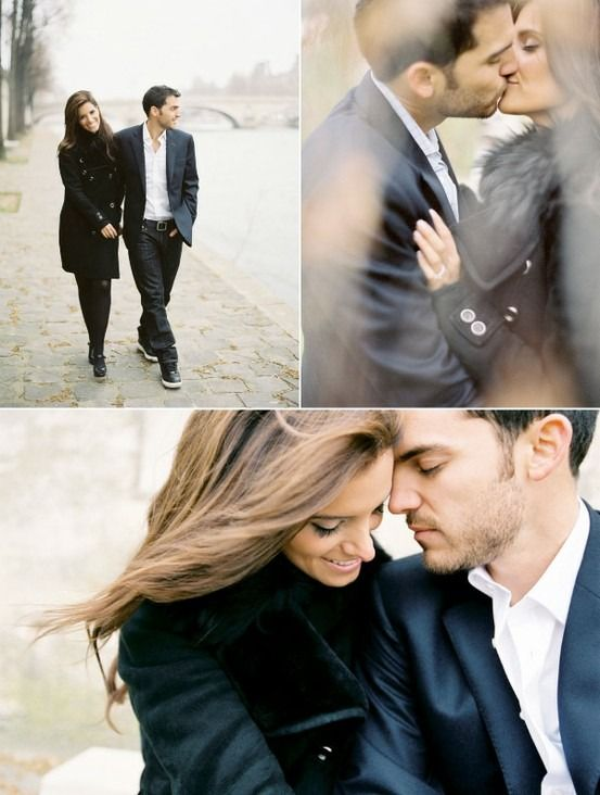 Love these engagements. So classy and timeless. Not too busy.-- maybe it is possible to have an engagement shoot in the winter.