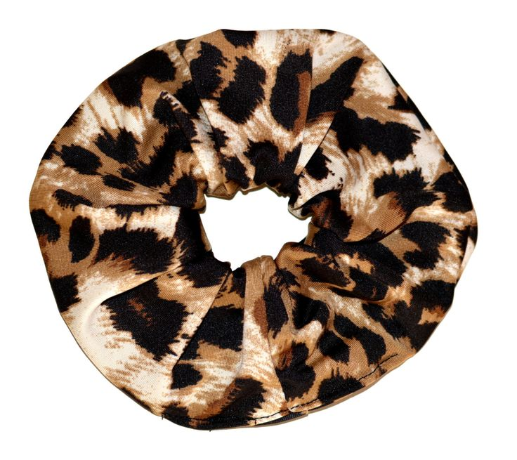Leopard Scrunchie/ jersey knit Scrunchie/ Black Scrunchie /Handmade Scrunchie /Gift Under 10 by TopsyCurvyDesigns on Etsy