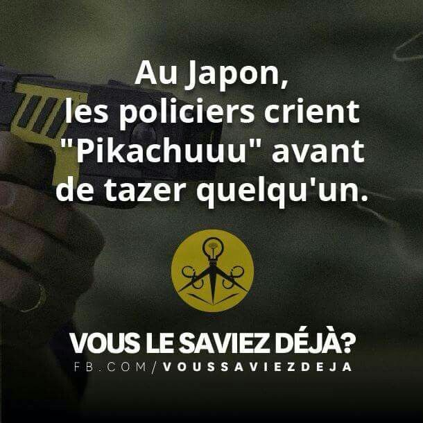 policier japonais et tazer