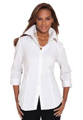 da0ea5e9aa Cute, basic white button down. Poplin Shirt | Plus Size Shirts & Blouses |  Jessica London | Working Mom Fashion Business Casual | Plus size shirts, ...