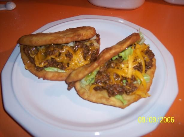 Taco Bell Chalupa.  So good, not-so-good for you.  On your cheat day.  If you're lazy, you can fry a flour tortilla and not make the bread.