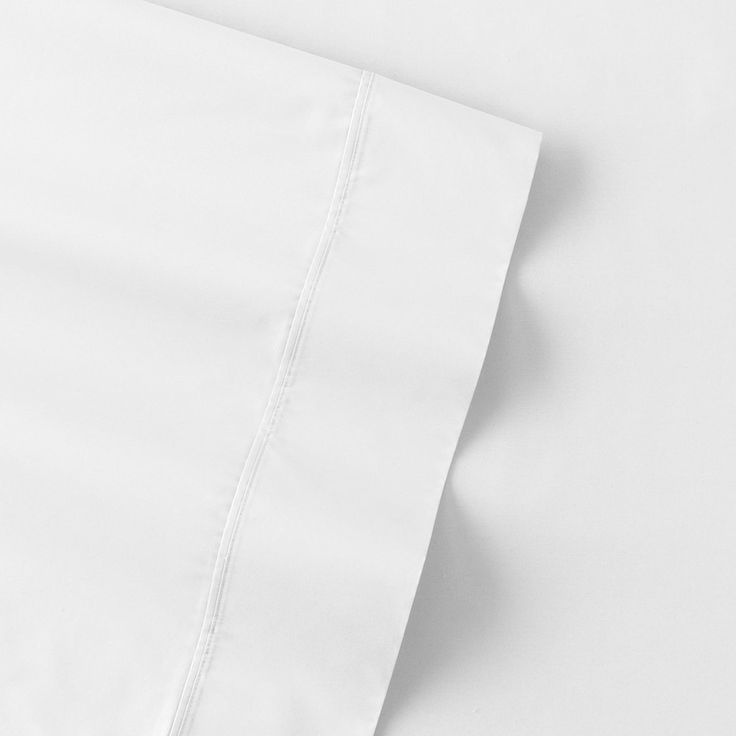 The Big One Percale Sheets, White, Full