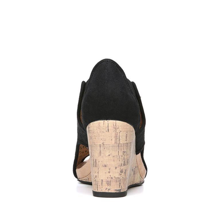 Lifestride Women's Hinx 2 Medium/Wide Wedge Sandals (Black)