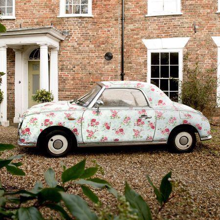 Floral print car!: Pink Flowers, Floral Prints, Vintage Cars, Shabby Chic, Vintage Floral, Flowers Power, Cath Kidston, Dreams Coming True, Dreams Cars