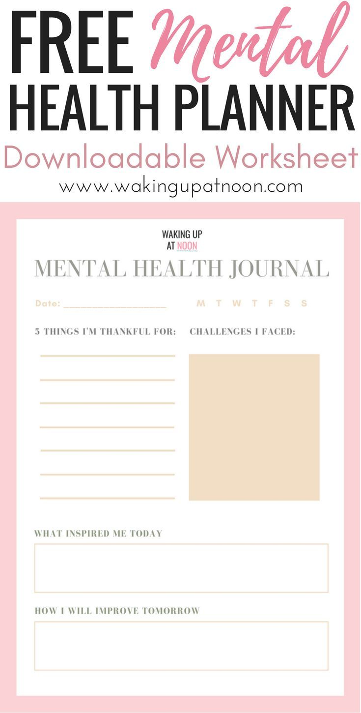 free mental health planner | get access to my free mental health worksheet and download this mental health journal planner for depression, anxiety and any other mental health illness or disorder. Journalling really helps with mental health and being happy and can increase your mood with treatment in recovery. #mentalhealth #depression #anxiety #health #planner #journal #happiness #selfcare