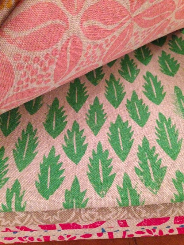We've just discovered the work of Molly Mahon and can't wait to start using some of her fabrics in our schemes!