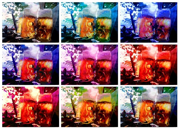 Warholic Remix: Beergarden in Evening Sunlight. | Artshop 77Warhol Remix, Warhol Style