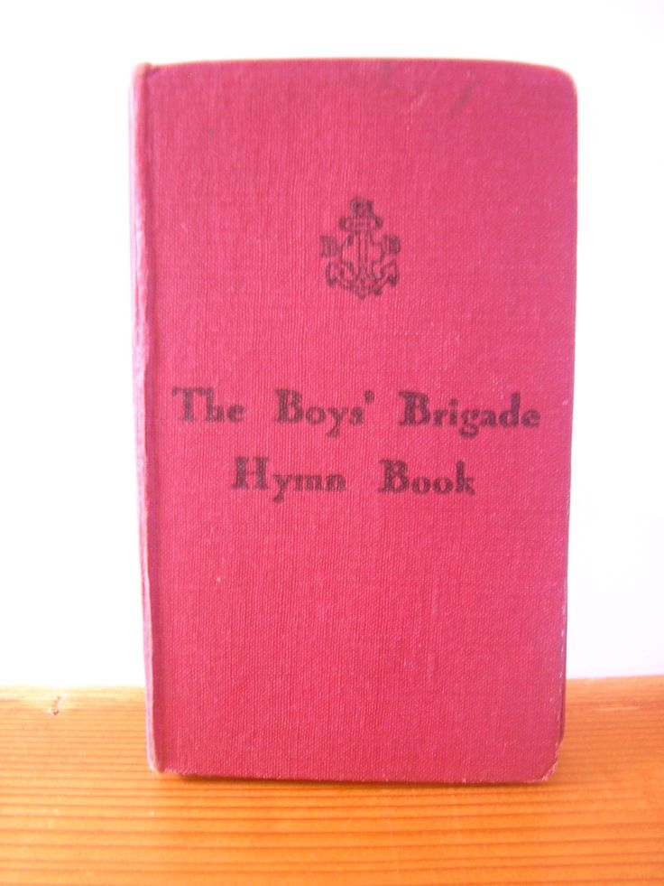 Vintage Boys Brigade Hymn Book 1959 red hard cover pocket size children's organisation marching youth group church songs Glasgow Scotland by TheIrishBarn on Etsy