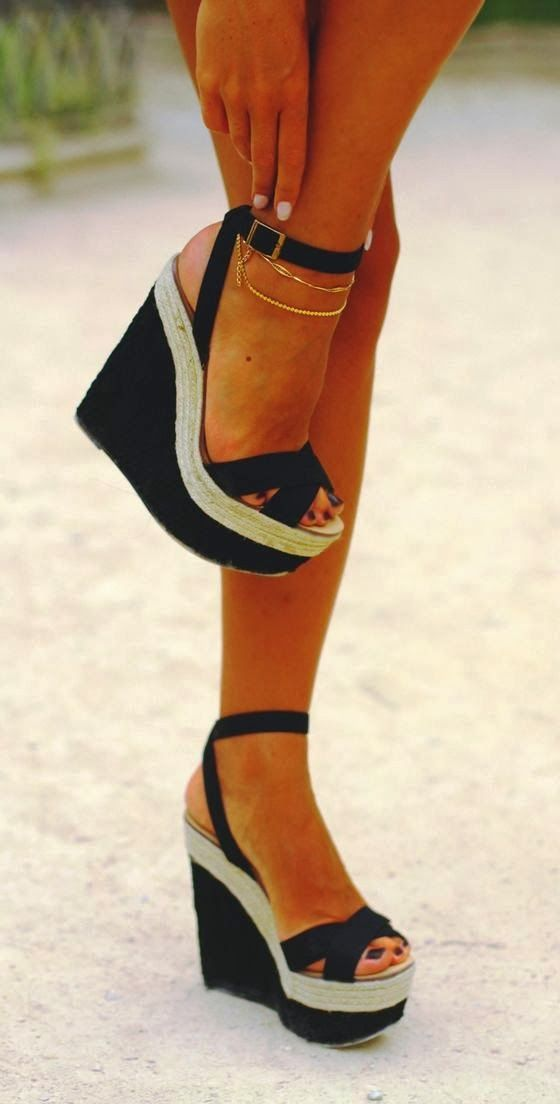 Lovely comfy wedges fashion style