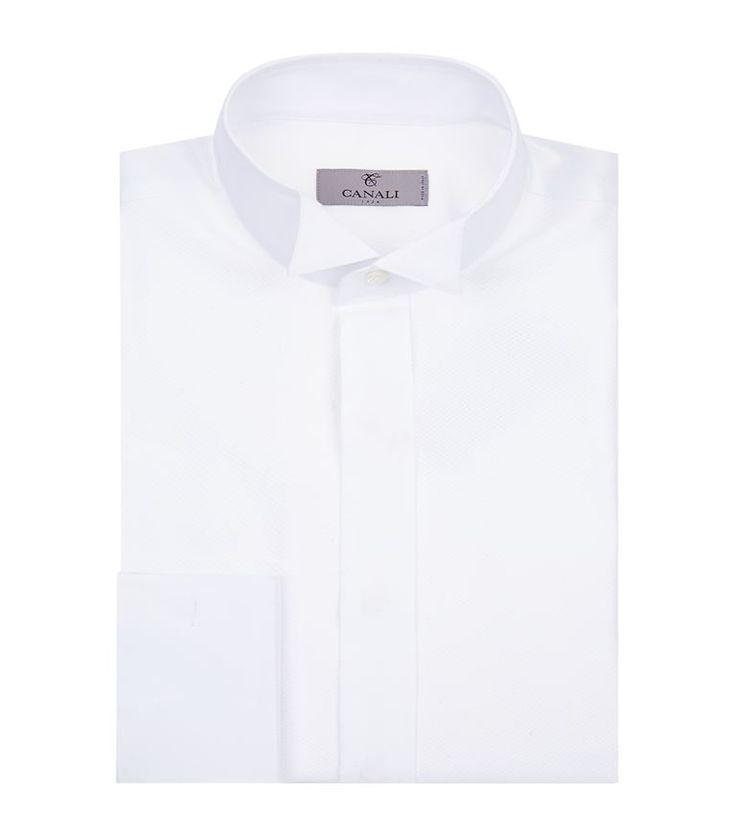 CANALI Cotton Wing Collar Shirt. #canali #cloth #