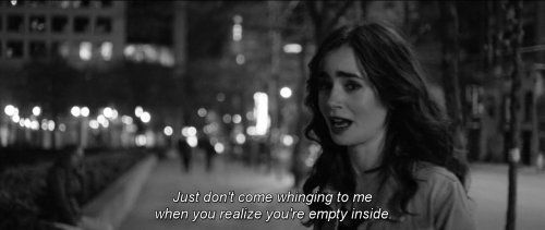 Most popular tags for this image include: love rosie, lily collins, quote and sad