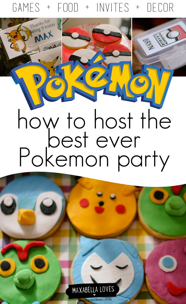 How to host a Pokemon party