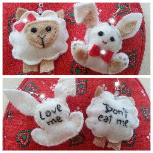 Easter felt earrings