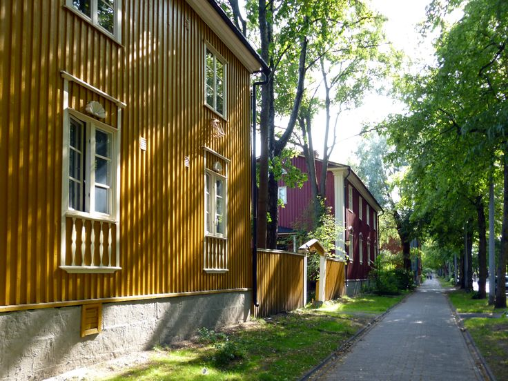 I wouldn't mind living here! Puu-Käpylä, a garden suburb in Helsinki, Finland.