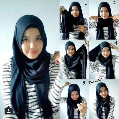 Tutorial Hijab Pashmina Khasmir
