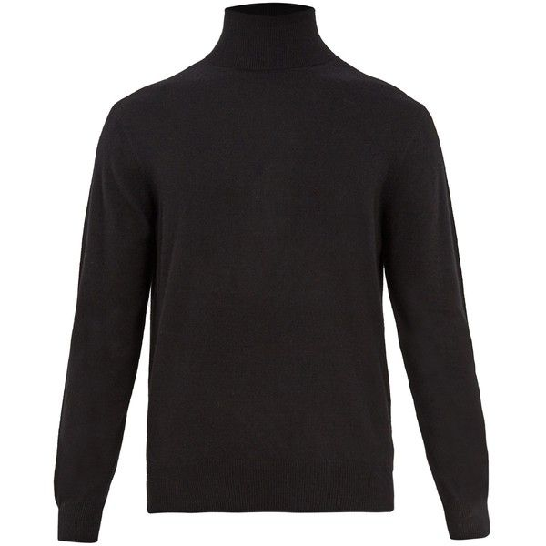 Raey Roll-neck cashmere sweater (4.660 ARS) ❤ liked on Polyvore featuring men's fashion, men's clothing, men's sweaters, mens cashmere sweaters and mens roll neck sweater