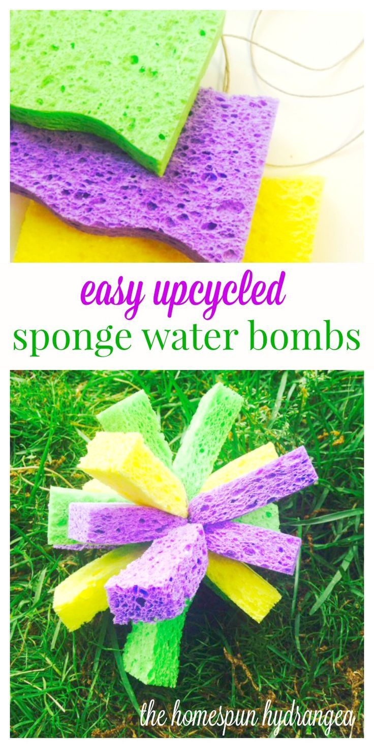 Turn sponges into some cool summer fun when you try this water bombs tutorial.
