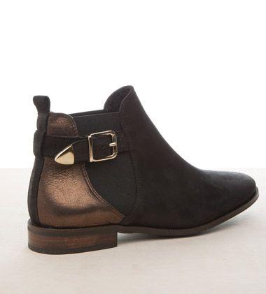 Boots cavalière métallisées Kookai