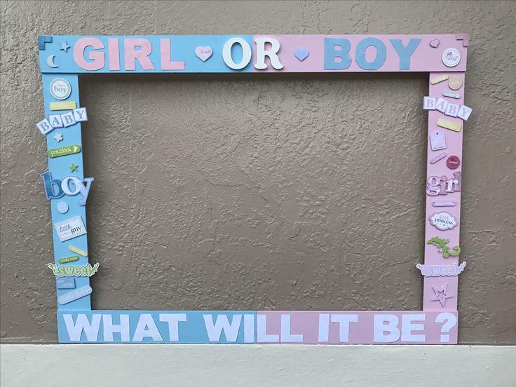 Gender reveal photo frame