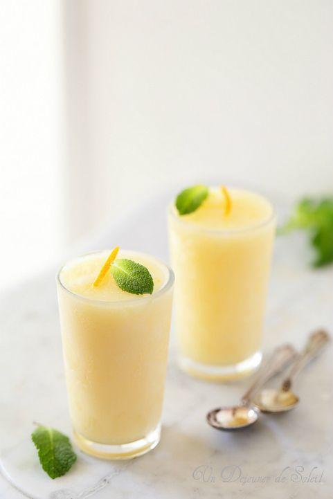 Sorbet d'Orient aux agrumes et fleur d'oranger. Citrus sorbet with orange blossom ©Edda Onorato