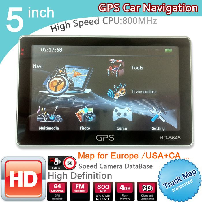 New 5 inch HD GPS Navigation 800Mhz/FM/8GB/DDR3 2017 Maps For Russia/Belarus  Europe/USA+Canada TRUCK Navi Camper Caravan //Price: $55.63//     #storecharger