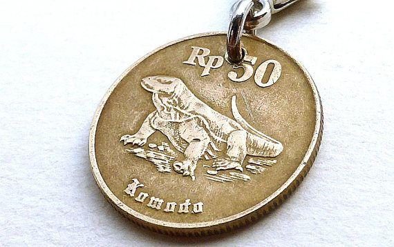 Indonesian Zipper charm Dragon charm Komodo dragon Lizard