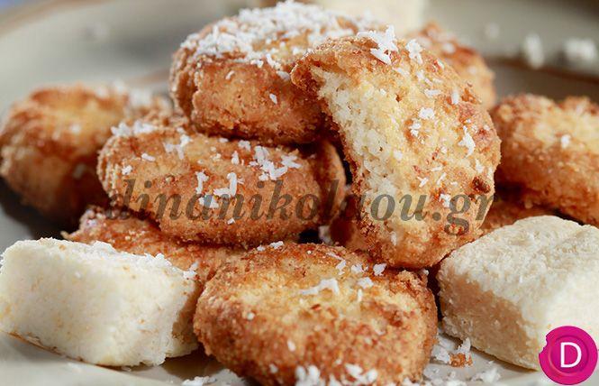 Μπισκοτάκια καρύδας   Dina Nikolaou