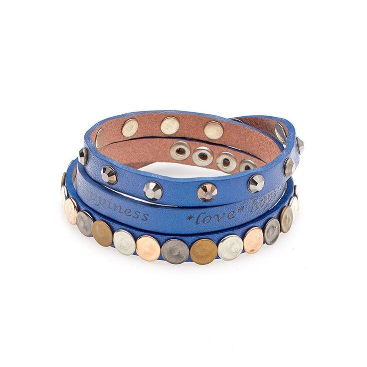 Mooie blauwe wikkelarmband van Biba € 19,95 www.beau-perle.nl