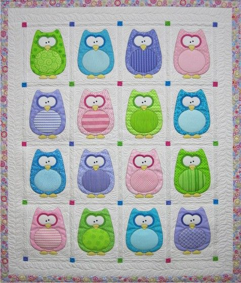 """""""The Hoots"""" quilt pattern by Amy Bradley Design."""