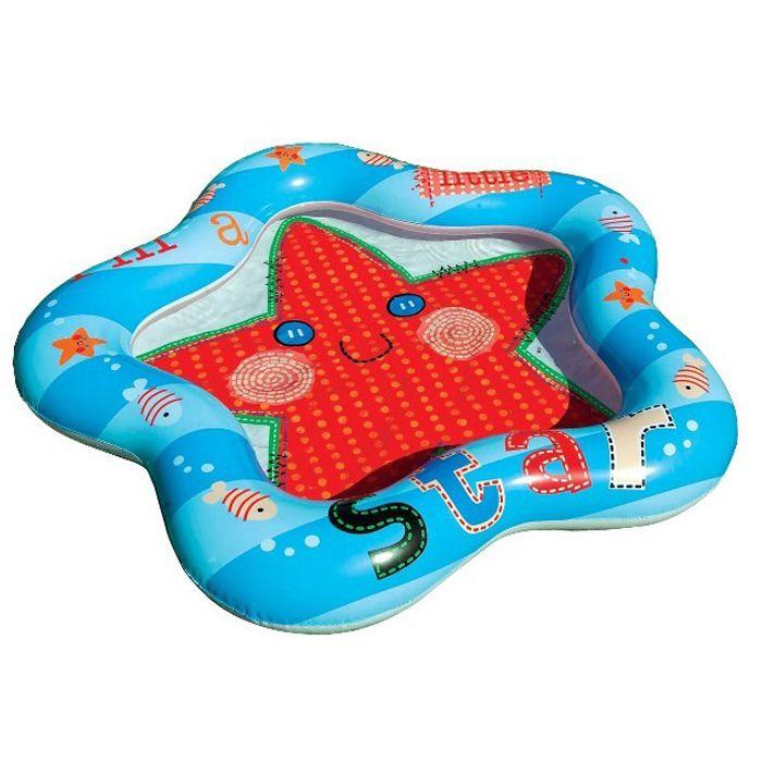 Opblaasbaar zwembad Kleine Ster  Dit stervormige babyzwembadje biedt uren spetterplezier op een warme zomerdag. Door de heldere zeester op de bodem zal uw kind er maar al te graag in zitten!  EUR 6.95  Meer informatie