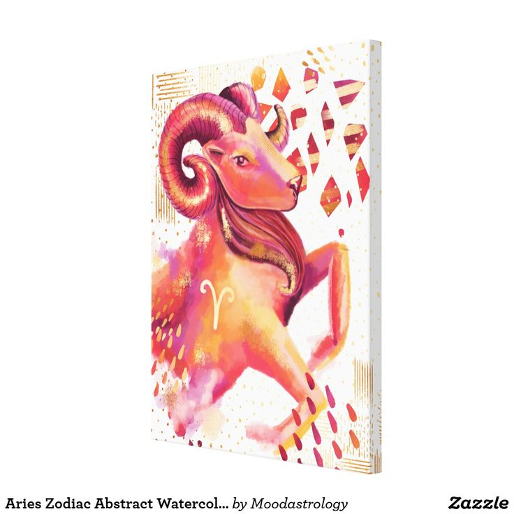 Aries #Zodiac Abstract #Watercolour Wall Art by MoodAstrology #Zazzle