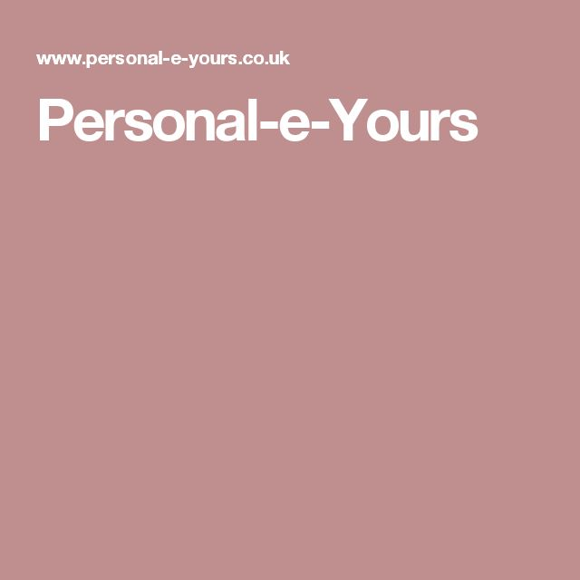 Personal-e-Yours